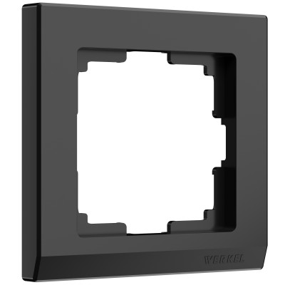 W0011808 Рамка на 1 пост (черный)