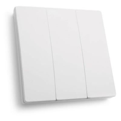 TM83 Выключатель беспроводной SMART, 250V, 500W, трехклавишный, белый FERON