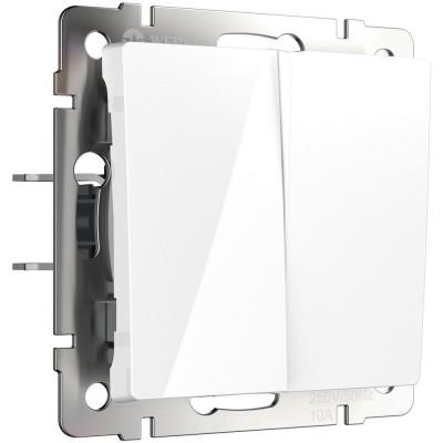 W1120001 Выключатель двухклавишный (белый)