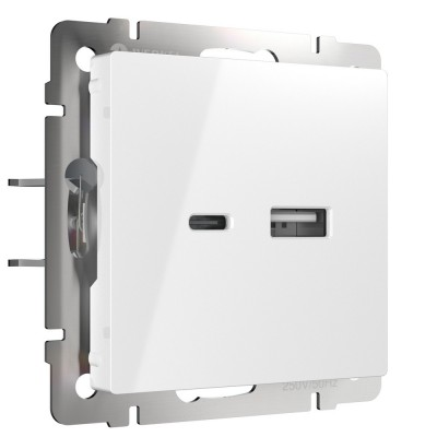 W1171801 Розетка USB тип A+С (белый)