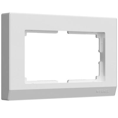 W0081801 Рамка для двойной розетки Stark (белый)