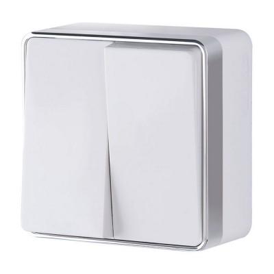 W5020001 Выключатель двухклавишный Gallant (белый)