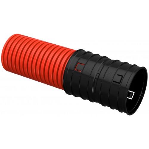 Труба гофр. двустенная ПНД d=125мм красная IEK
