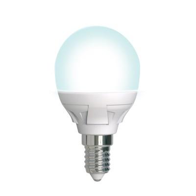 LED-G45 7W-4000K-E14-FR-DIM PLP01WH Лампа светодиодная. диммируемая. Форма шар. матовая. Серия Яркая. Белый свет 4000K