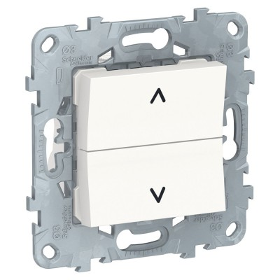UNICA NEW выключатель для жалюзи, 2-кл,кноп,бел NU520718