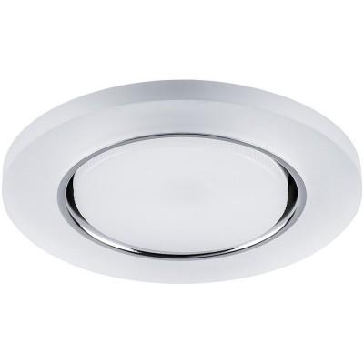 CD5020 Светильник встраиваемый с белой LED подсветкой (4000К) GX53 без лампы, белый мат