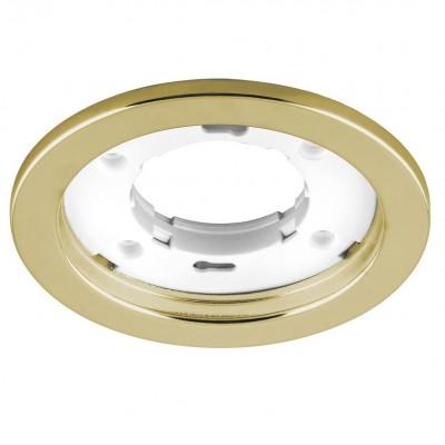 DL53 Светильник потолочный встраиваемый, 15W 230V  GX53, золото без лампы