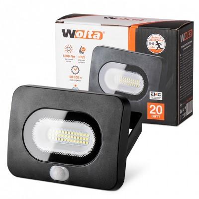 Светодиодный прожектор WFL-20W/05s, 5500K, 20 Вт LED, IP65 с датчиком